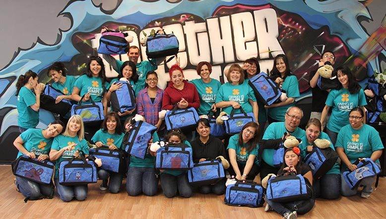 suitcases for foster kids