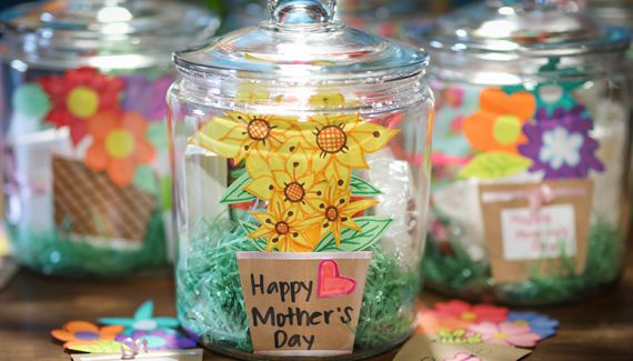 mother's day gift jars for local foster parents in southern california