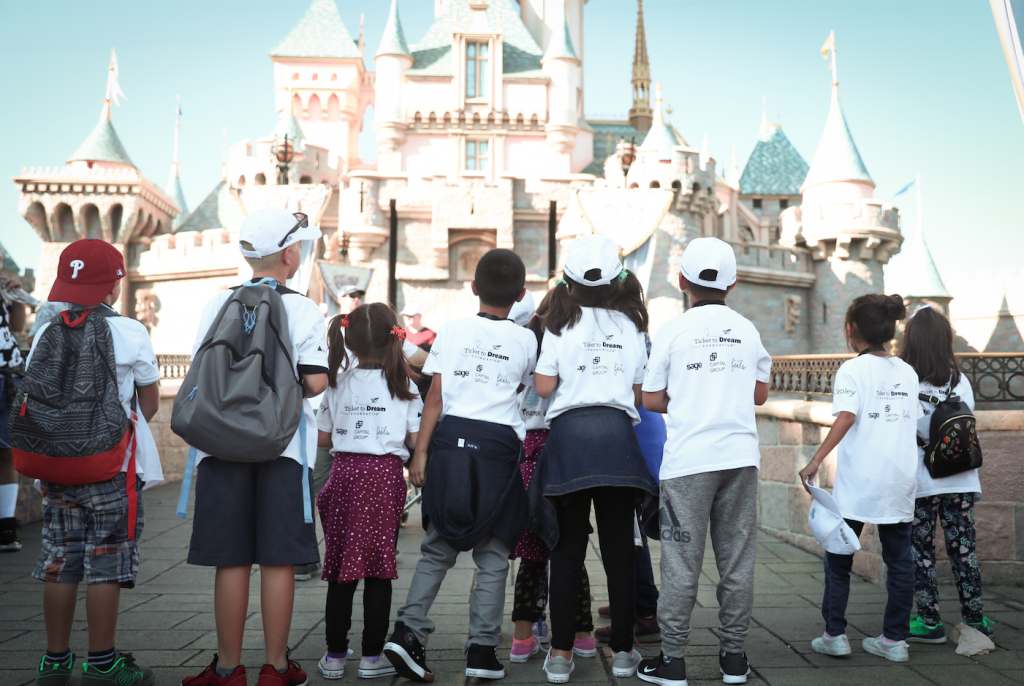 Siblings reunited at Disneyland after being separated by foster care.