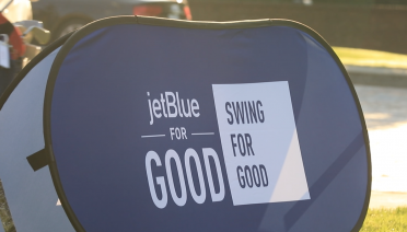 JetBlue Swing for Good foster children charity